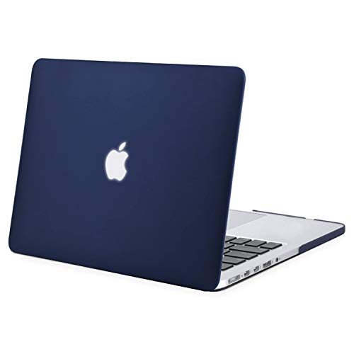 MOSISO Hülle Kompatibel mit MacBook Pro Retina 13 - Plastik Hartschale Hülle Kompatibel mit Ältere Version MacBook Pro Retina 13 Zoll (Modell: A1502 & A1425) (Release 2015 - Ende 2012), Navy Blau