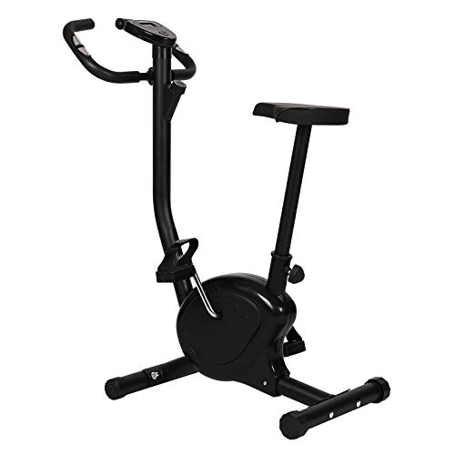 Physionics® Vélo d'Appartement - Écran LCD, avec Capteurs de Fréquence Cardiaque, Selle et Résistance Réglables - Vélo d'Exercice, de Fitness, d'Intérieur