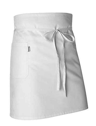 Monza Obrerol - Grembiule da Cucina Unisex Corto e Resistente | Grembiule Professionale Multitasche per Chef e Camerieri | Abbigliamento da Lavoro di Alta Qualità