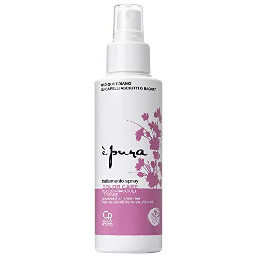 È Pura - Spray Color Care - Trattamento Spray per Capelli Colorati, Uso Quotidiano su Capelli Asciutti o Bagnati - Formula Antiossidante con Estratto di Thè Verde e Wasabi - Senza Risciacquo - 125 ml