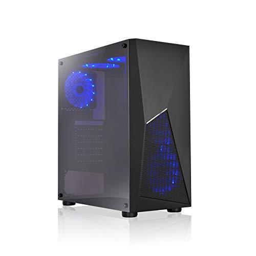 L-Link Storm - Caja de Ordenador Gaming USB 3.0 Sin Fuente, Negro, 19.5 x 43.5 x 40.5 cm