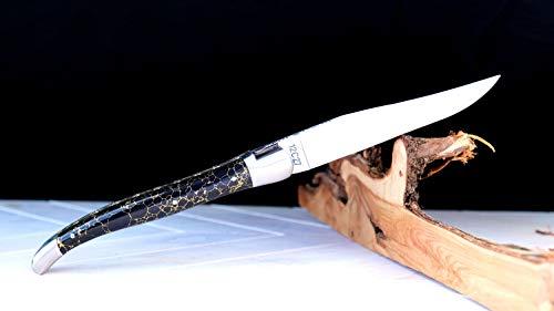 Taschenmesser Laguiole du Barry, big stone, brosse, rekonstituierter Stein, double platines, 13 cm