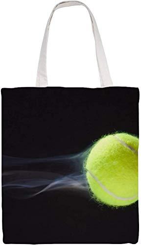 MODORSAN Bolso de hombro de tenis Bolso de mano de lona, Bolsos de tela reutilizables para compras de comestibles, Bolsos de mano con impresión de doble cara