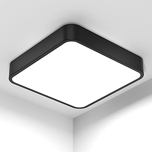 bedee LED Lámpara de Techo 36W, Plafon LED Techo Cuadrado, Lampara Led Techo Modern Luz Blanco 5000K Para Cocina Baño Dormitorio Sala de Estar Comedor Balcón [Clase de eficiencia energética A++]