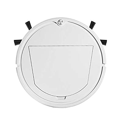 N \ A Robot Vacuum Cleaner, USB Charging Robot Vacuum,2000Pa Strong Suction Robotic Vacuum Cleaner, Up to 90mins Runtime, for Good for Pet Hair, Carpets, Hard Floors(White)