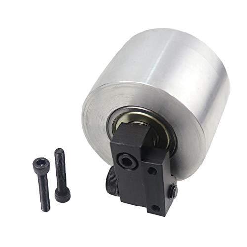Cinturón Grinder Diámetro de rueda 68mm de espesor 50 mm Desviación de aluminio de plata Active Wheel
