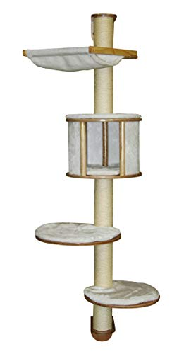 Kerbl Cat Tree Dolomit Wall Mounted, 66.14 Inches, White
