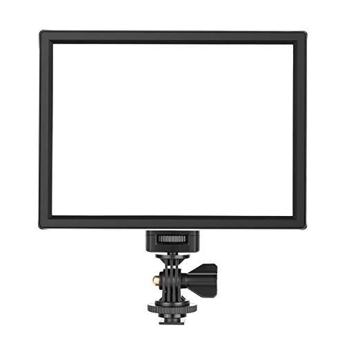 Neewer Cámara LED Luz de Video - Panel de Luz LED SMD para Iluminación de Fotografía Más Suave, Temperatura de Color Variable de 3200K a 5600K y Luz Regulable, Ultra delgada, T100