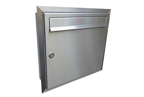 LETTERBOX24.de A-01 - Buzón de acero inoxidable (sin placa para nombre)
