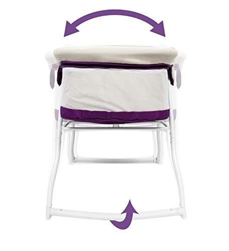 3-in-1 Baby Babybett Beistellbett Reisebett inkl. Moskitohaube, Matratze und Tasche – alle Farben (Violett) - 9