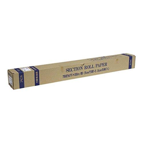 アピカ 模造紙 50mm方眼罫 ロールタイプ XR30W 白 30m巻