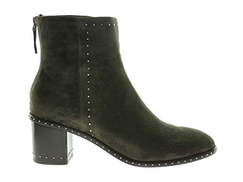 Lola Cruz 168T30BK Damen Schuhe Stiefeletten Absatz Ankle Boots Grün Leder, Größe:41