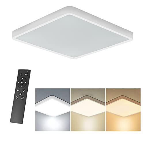 Anonry Lámpara de Techo LED Interior 36W, 3060LM Cuadrada Moderno Plafón LED...