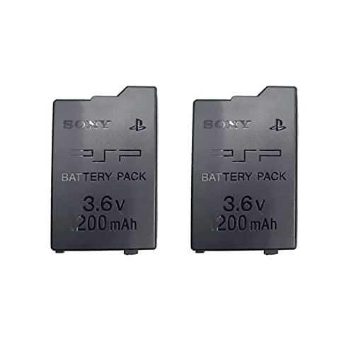 Nouveau Pack de Li-ION Batteries Rechargeables de Remplacement 2 pièces, pour Consoles Minces for Sony Playstation Portable PSP 3000 2000 3001 2001, modèle: PSP-S110 3.6V 1200mAh Batterie au Lithium