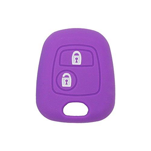 Funda de 2 botones para llave de coches Peugeot y Citroen, de la marca Fassport