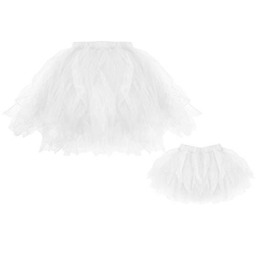 Falda de Tutu Mujer,SHOBDW Mamá Y Niños Niños Regalos para Bebés Regalo Disfraz Fiesta de Cumpleaños Elegante Pettiskirt Falda De Ballet Plisada 2PCS