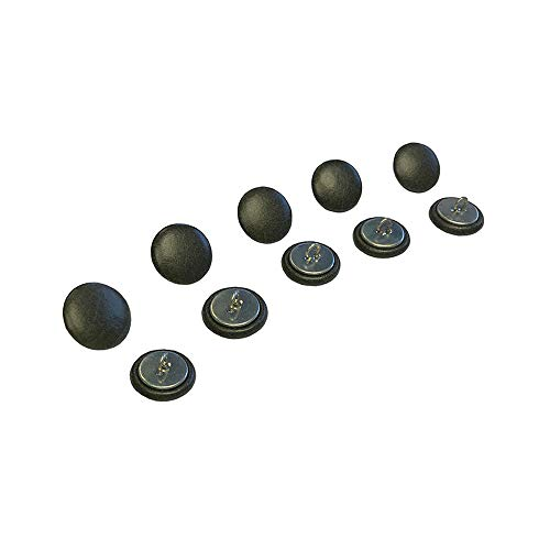 10 x 20 mm olive Cuir Chesterfield Boutons Dos avec fil pour traditionnel Deep Button Chesterfield Tissu d'ameublement, canapés, chaises, tabourets faite à la main en Angleterre – Finition antique