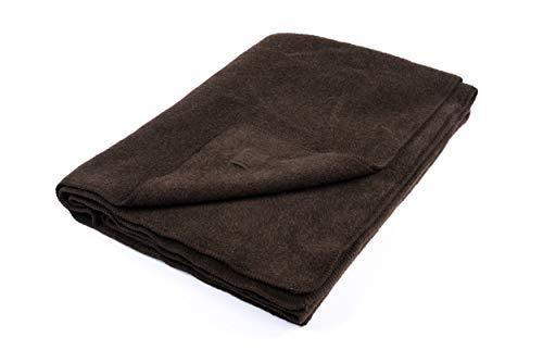 Ritter Decken Yakdecke Himalaya 150 x 200 100% Yak (ungefärbt) Dunkelbraun, weich. Wolldecke aus eigener Herstellung. Geeignet als Wohndecke, Tagesdecke und Sofadecke