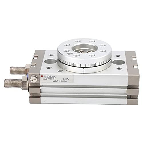 Actuador rotativo neumático Cilindro de aire de piñón y cremallera de doble efecto 20 mm MSQB20A