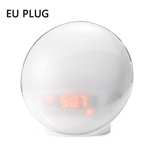 LED Elektronische wekker Natuur Wake-up Slaapmuziek Kleurrijk Nachtlampje Wit EU