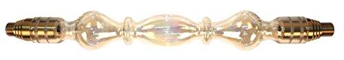 Caesar Glasrauchsäule Crystal (Gold) - Ø 18 - Perfekt für die Wasserpfeife Hookah