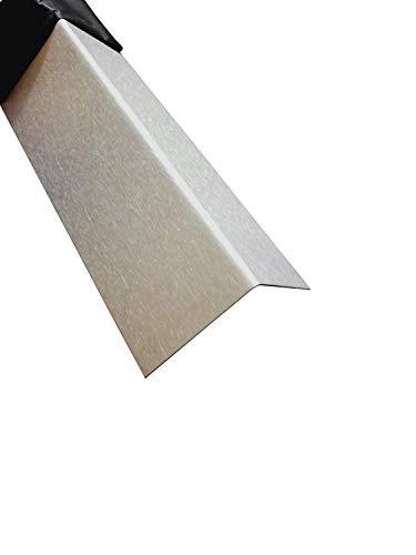 Edelstahl Kantenschutz 2000mm 30x30 mm K240 geschliffen V2A 0,8mm stark Kantenschutzblech Kantenschutz,Winkelprofil, 200cm Eckschiene L-Profil Schenkel 3x3cm