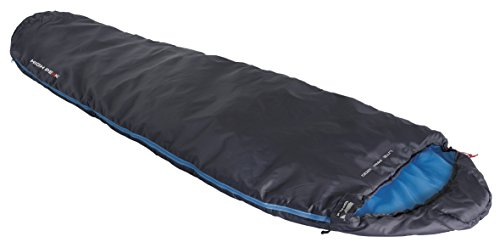 High Peak slaapzak Lite Pak 1200, antraciet/blauw, 225 x 80 x 8 cm