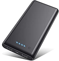 【26800mAh Upgrade High Capacity】26800mAh power bank with huge capacity can charges most smartphones over 6 times or a tablet 2+ times. Suitable for a business trip or other outdoor activities.Without extra worry about low phone battery, enjoy your de...