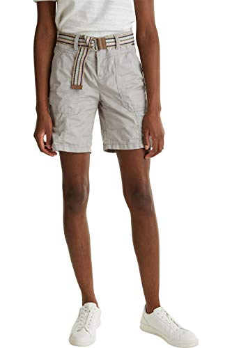 ESPRIT Damen 040EE1C343 Shorts, 040/LIGHT Grey, 36