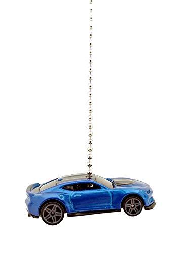 Hot Wheels Chevy Camaro Diecast Car Ceiling Fan Light Pull Ornament 1/64 (2017 Camaro ZL1 BLUE) -  CTR Customs