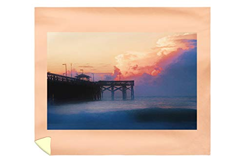 Lantern Press Myrtle Beach, South Carolina - Sunrise at Springmaid Pier - Photography A-95390 95390 (88x104 King Microfiber Duvet Cover)