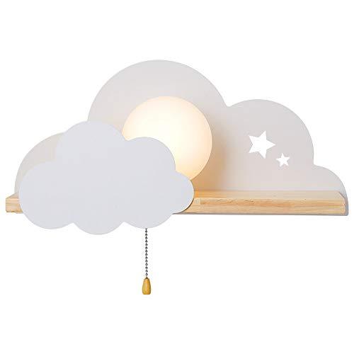 AKBOY LED Nube Modelado Lámparas Luces, Lámparas de Pared Infantiles Iluminación Infantil Nocturna Apliques de Pared, Lámparas Decoración Casera para la sala de estar Dormitorio de las Muchachas