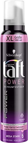 Schwarzkopf 3 Wetter taft Schaumfestiger Power Cashmere Touch mega starker Halt 5, 6er Pack (6 x 180 ml)