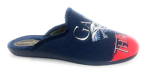 BUONAROTTI Zapatillas DE CASA Caballero Juegos DE Tronos Color Marino Talla 41