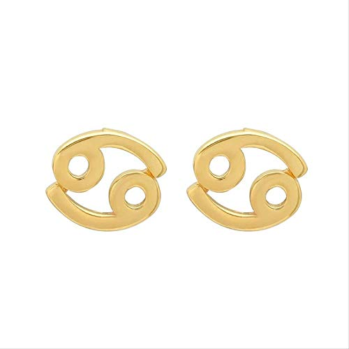Trendy Stud Earring 925 Sterling Silver Twelve Constellation Cartilage Earrings For Women Piercing Pendientes Jewelry