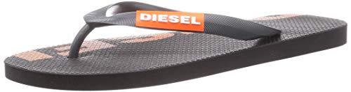 Diesel Sa-Briian-Sandals - Chanclas para hombre, color Negro, talla 46 EU