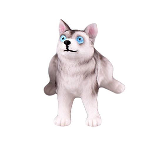 Lsgepavilion Linda resina simulación de perro Husky forma miniatura animal figura juguete...