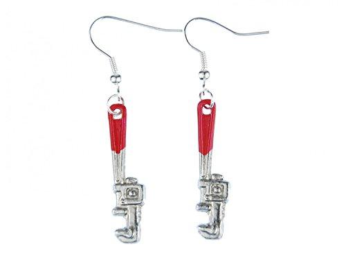alicates de llave de tubo pendientes Miniblings inglés Wasserpumpenzange taller roja