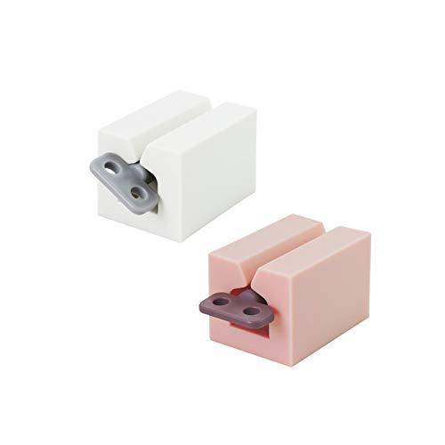 Andiker - Prensa de tubo enrollable para pasta dentífrica, dispensador de pasta de dientes para prensar para cuarto de baño, portadientes manual, ahorra la dentifrica, crema y otros (rosa, beige)