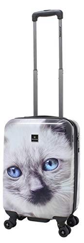 Saxoline Koffer Trolley Katze Katzenkoffer Motiv Handgepäck Gr.S 55 cm