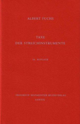 TAXE DER STREICHINSTRUMENTE - arrangiert für Buch [Noten / Sheetmusic] Komponist: FUCHS ALBERT