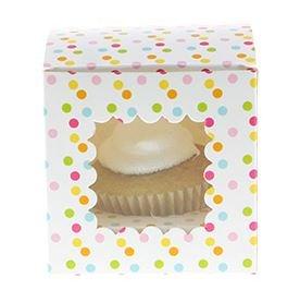 Sambellina Lot de 6 boîtes à confettis arc-en-ciel pour cupcakes et muffins