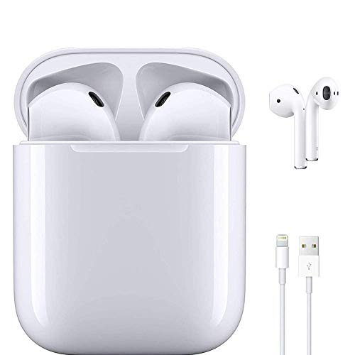 Wireless Bluetooth Headphones 5.0 Bluetooth Touch Control with Wireless Charging Case IPX7 Waterproof TWS Stereo Earphones Built in Mic Noise Cancelling Headphones for Apple Airpods/iPhone/Andriod