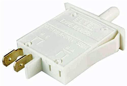 SPARES2GO Interruptor de luz de botón para puerta para nevera Hotpoint