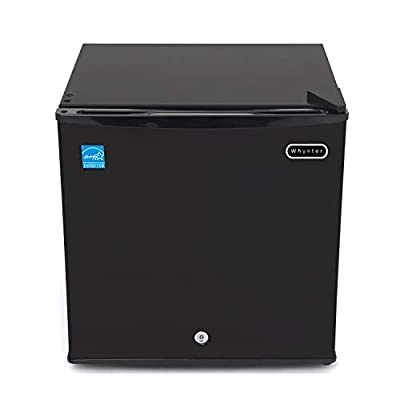 Whynter CUF-110B Energy Star 1.1 cubic feet Upright Freezer Stainless Steel door with Security Lock with Reversible Door - Black