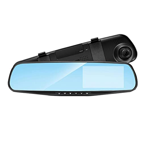 fregthf Coche retrovisor Espejo Video recroderador 1080p plástico Dual Lente dvr Espejo dancill cámara
