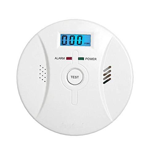 Yoyakie Alarm Rauch Kohlenmonoxid-Alarm LCD-Display Sprachbenachrichtigung Für Heim Feuer Gas Leaks