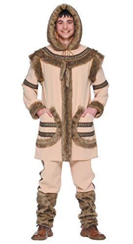 FIESTAS GUIRCA Traje de Hombre Esquimal Inuit Que Vive en Zonas árticas
