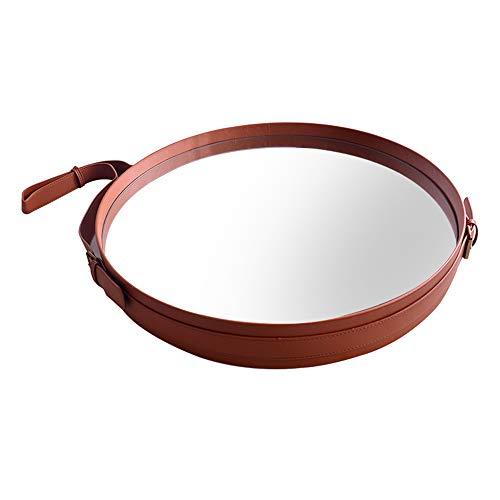 Bathroom Mirror LDFZ badkamerspiegel, creatieve wandspiegel, brede zijriem, hoge resolutie, in hoogte verstelbaar