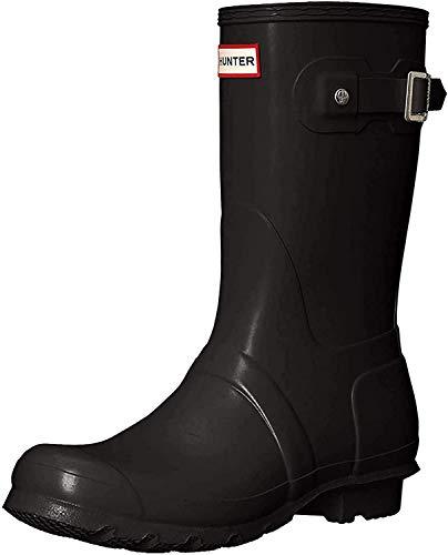 Hunter Womens Original Short Rain Boots Black Matte
